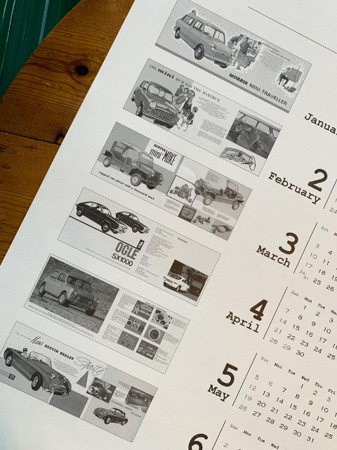 愛知県 春日井市 春日井オリエンタル自動車 mini ミニ専門店 Rover クラシックミニ カレンダー プレゼント ポスターカレンダー