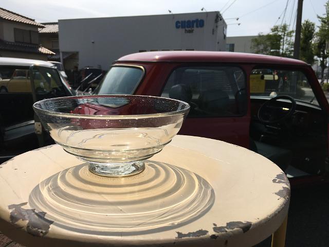 P-1 Persian手吹きガラス(うずまきボウル) 約φ16×H7.5cm