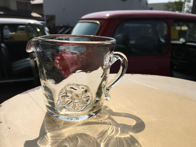 P-4 Persian手吹きガラス(ソースジャグ) 約W12×D8.5×H8.5cm