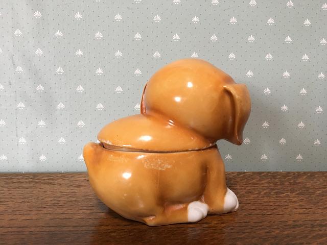 アンティーク Dog SUGAR POT 9591