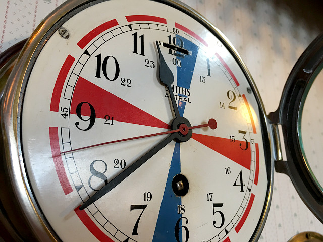 アンティーク掛け時計 『SMITHS社』 Ship Clock 9090