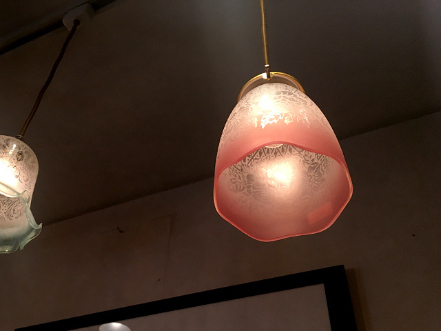 エッチングガラスシェード(ピンクグラデーション) 15003