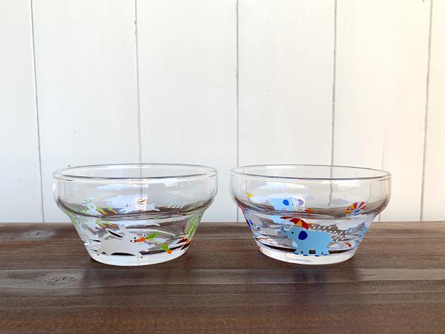 つよいこボウル(かくれんぼ うさぎ・ぞう)(W9.5×H5.6cm)made in JAPAN