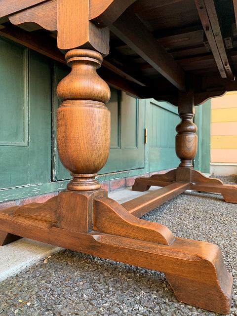 アンティーク ドローリーフテーブル(長方形) 21011