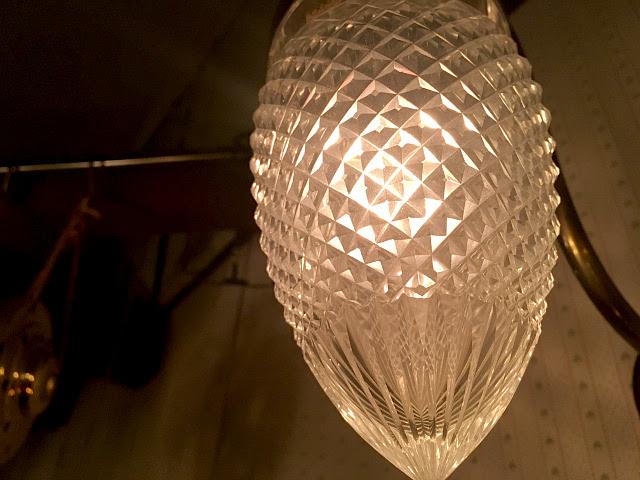 アンティーク カットガラスシェード(卵型) 9010-2