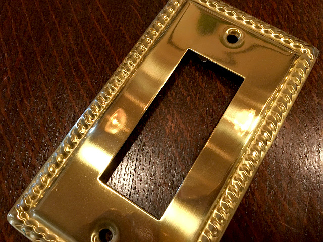 真鍮 スイッチプレート コンセントプレート br46