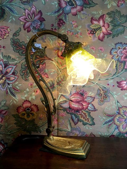 アンティーク テーブルランプ(真鍮ベース) 22059 16100
