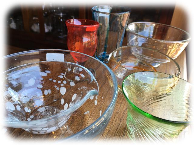 ペルシャ 手吹きガラス チューダーローズ 愛知県 春日井市 アンティーク家具 輸入 イギリス 雑貨 インテリア プレゼント