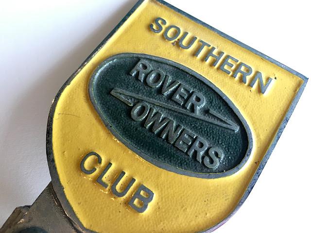 """ヴィンテージ """"ROVER OWNERS CLUB"""" バッチ A1729"""