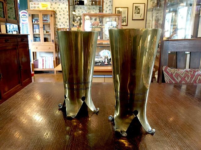 アンティーク 真鍮製フラワーベース 『COX&SONS社』 9357