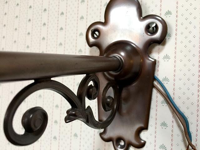 『CHRISTOPHER WRAY』 真鍮製 ブロンズ色 ウォールブラケット 10497