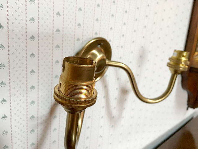 『CHRISTOPHER WRAY』 真鍮製 二灯ウォールブラケット 9133