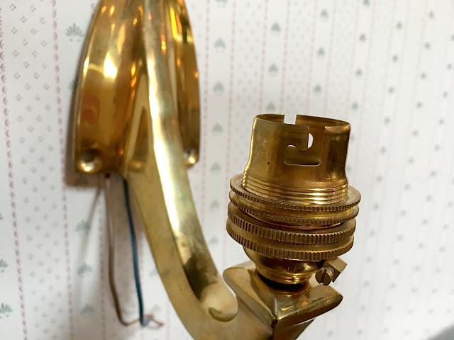 アンティーク 真鍮製 ウォールブラケット 15010