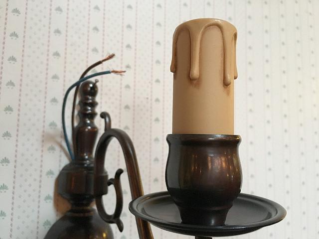 『CHRISTOPHER WRAY』 真鍮製 ブロンズ色 ウォールブラケット(キャンドルチューブ) 11145