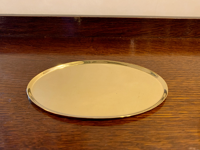 真鍮 オーバルプレート br100