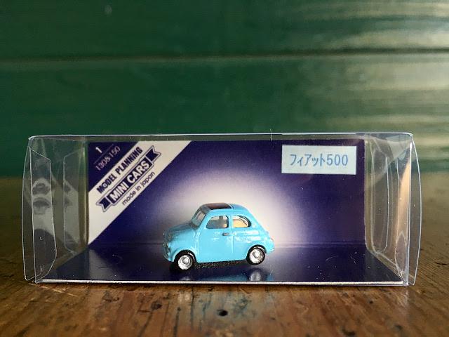 『MODEL PLANNING』 MINI CARS フィアット500(ライトブルー) A1742