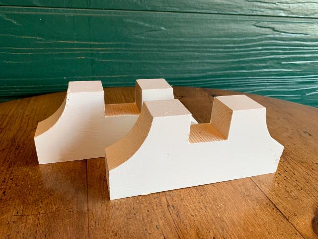 ステンド用 木製脚(白ペイント) L st-44