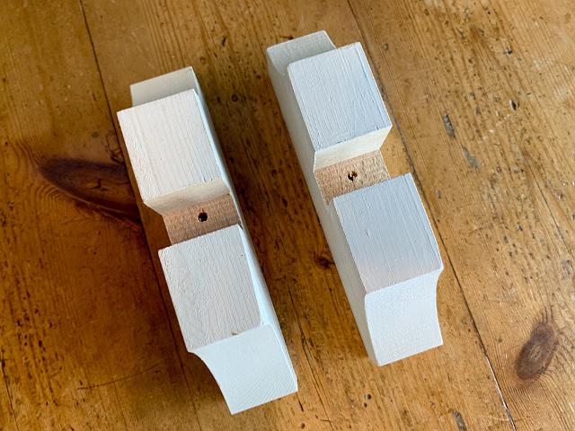 ステンド用 木製脚(白ペイント) L(スリム) st-45