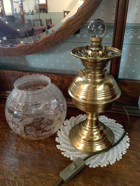 テーブルランプ(球形 エッチングガラスシェード) 14071・16070