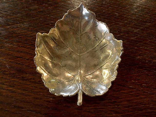 真鍮 トレー(Maple Leaf)L br84