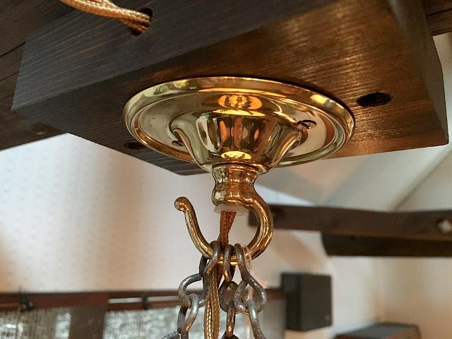 《天井部品》 真鍮製 フランジカバー(チェーンコード用) Li66
