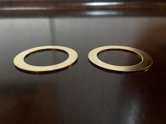 真鍮製 ソケットアダプターリング(2枚set) Li75