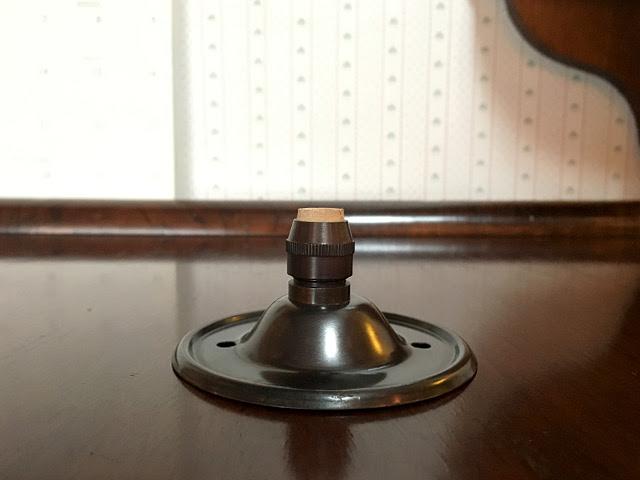 《天井部品》 真鍮製 ブロンズ色 フランジカバー(布コード用) Li69