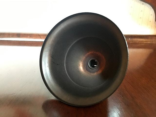《天井部品》 真鍮製 ブロンズ色 フランジカバー(布コード用) Li71