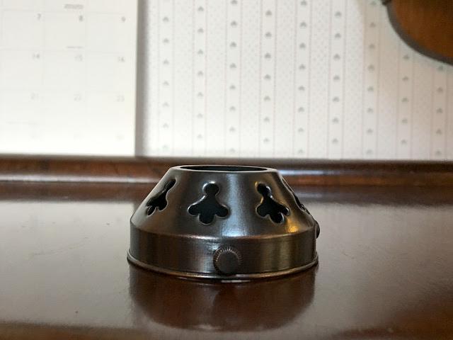 真鍮製 ブロンズ色 ギャラリー(3点留め) Li74