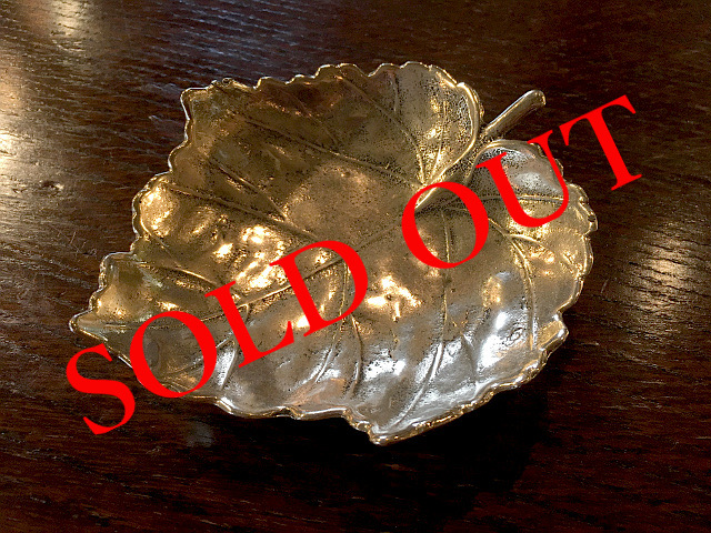 SOLD OUT 真鍮 トレー(Maple Leaf)L br84