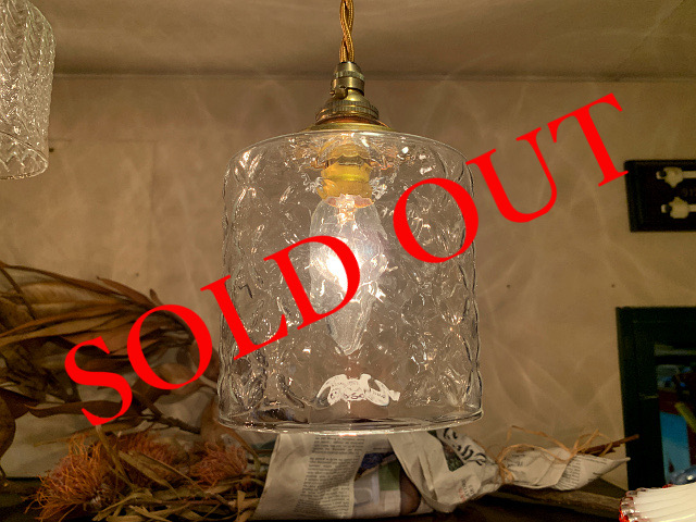 SOLD OUT ガラスシェード フラワー 844