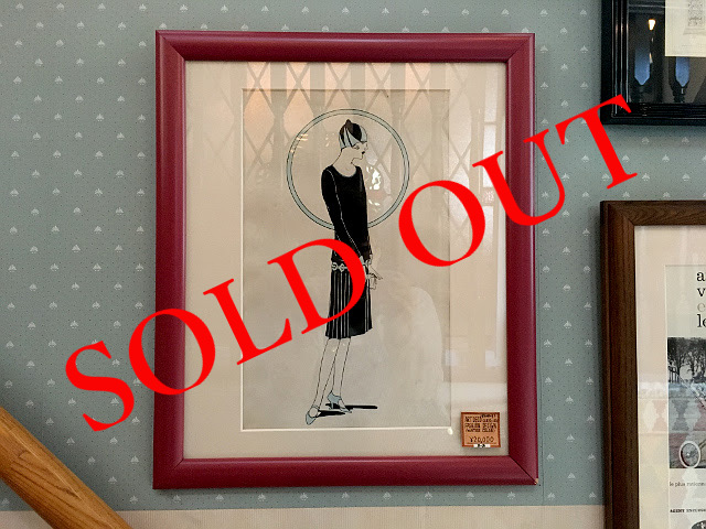 SOLD OUT アンティーク ART DECO FASHION DESIGN 9009-1