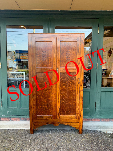 SOLD OUT アンティーク ワードローブ 21025