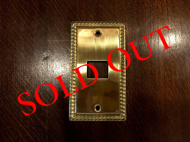 SOLD OUT 真鍮 スイッチプレート コンセントプレート br44