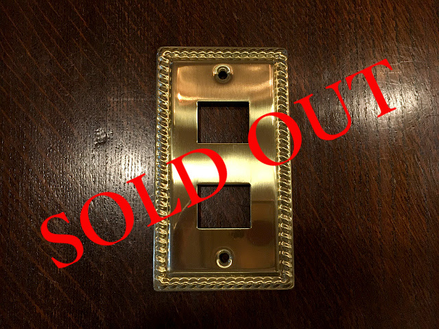 SOLD OUT 真鍮 スイッチプレート コンセントプレート br45