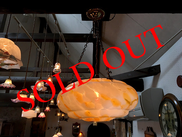 SOLD OUT ヴィンテージ 3点吊りシェード 18034