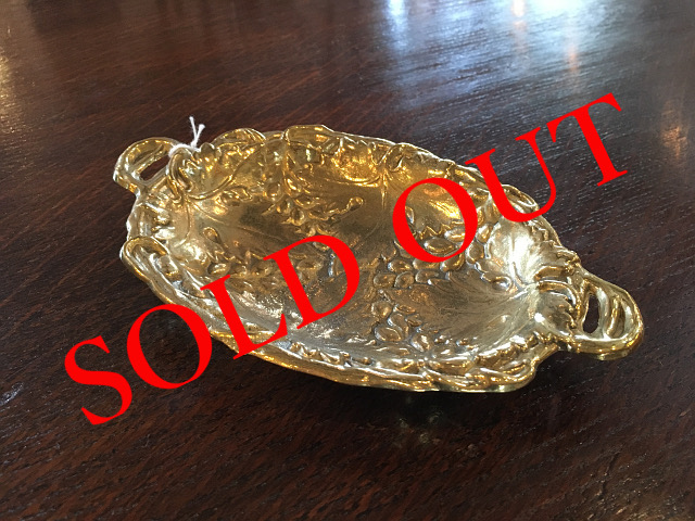SOLD OUT 真鍮 トレイ リーフオーバル br06