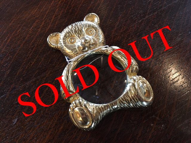 SOLD OUT 真鍮 ルーペ(くま) br08