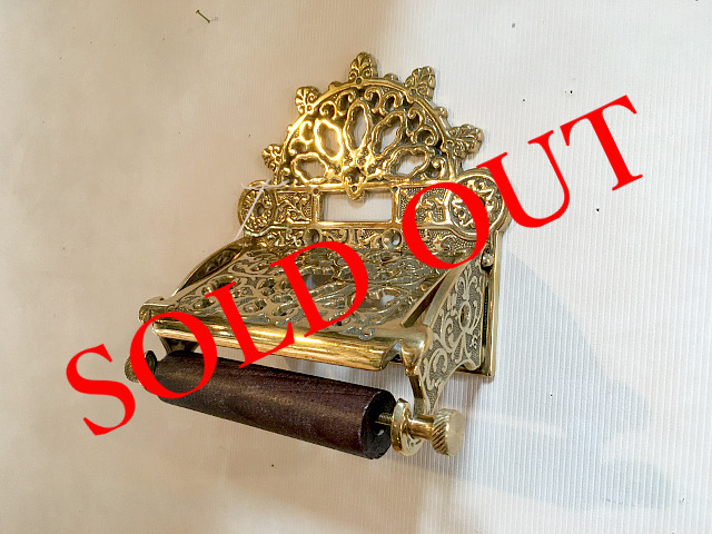 SOLD OUT 真鍮 トイレットペーパーホルダー (CL DC8) br19