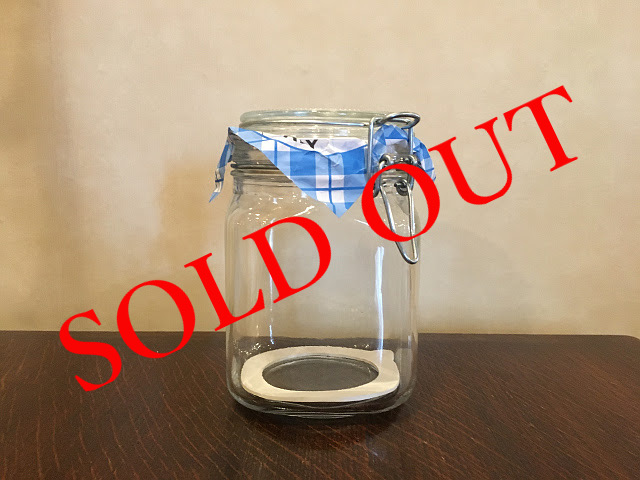SOLD OUT g-30 グラスジャー(1000ml)made in ITALY