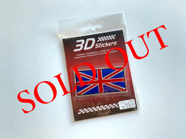 SOLD OUT ユニオンジャックステッカー(3D) A1759
