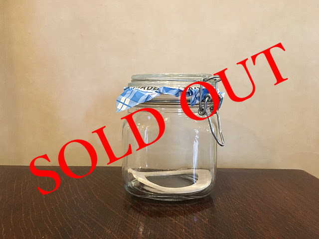 SOLD OUT g-29 グラスジャー(750ml)made in ITALY