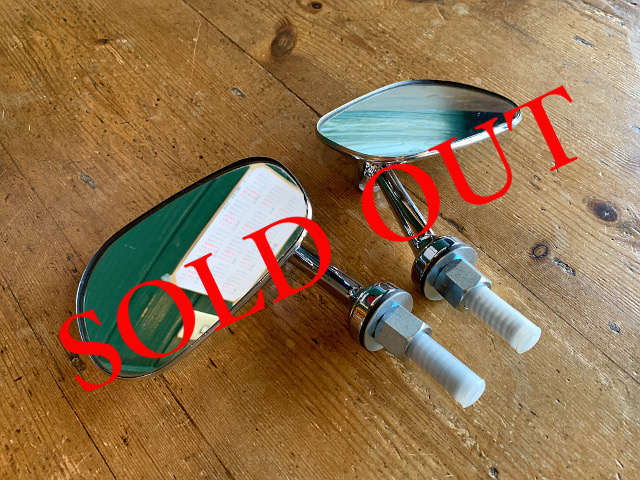 SOLD OUT 『TEX社』 フェンダーミラー (ナス型) 1set A1766