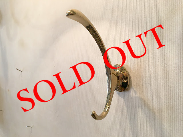 SOLD OUT 真鍮 コートフック br65